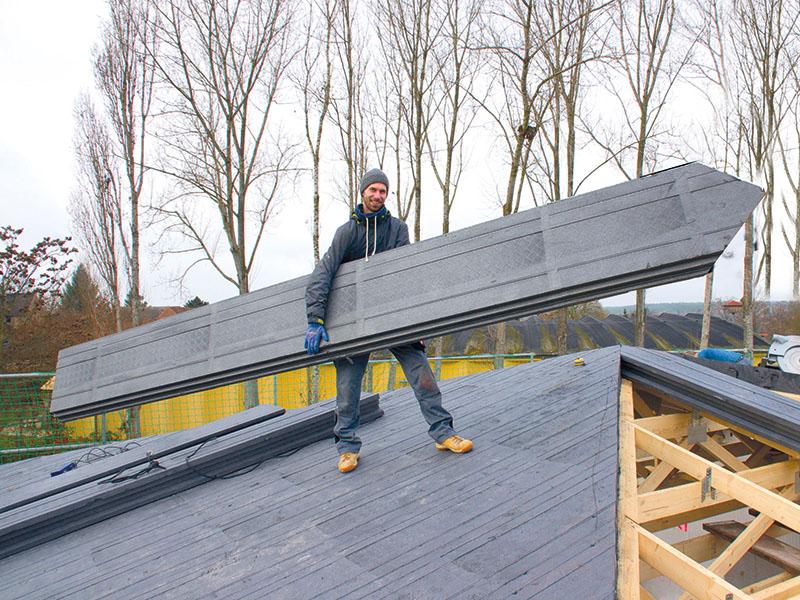 Dachverlegung ohne Kraneinsatz