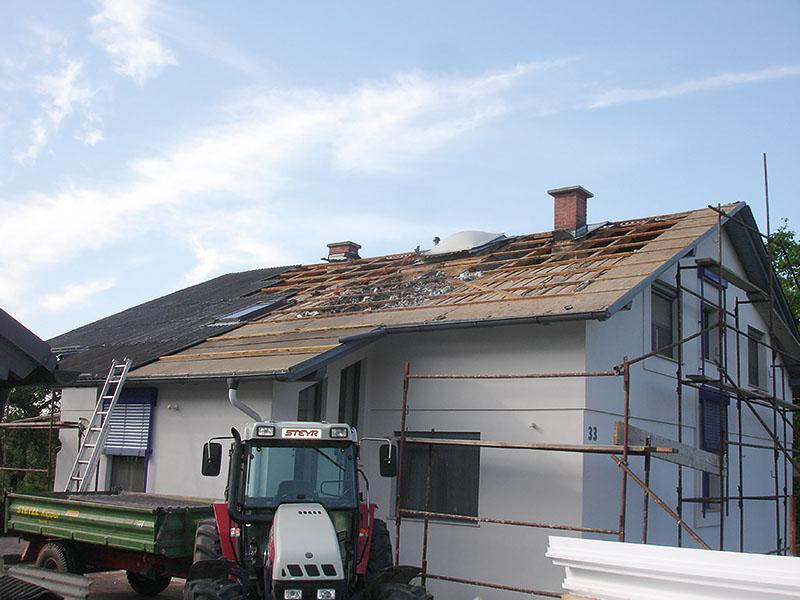 Dachsanierung mit OC Dachelementen