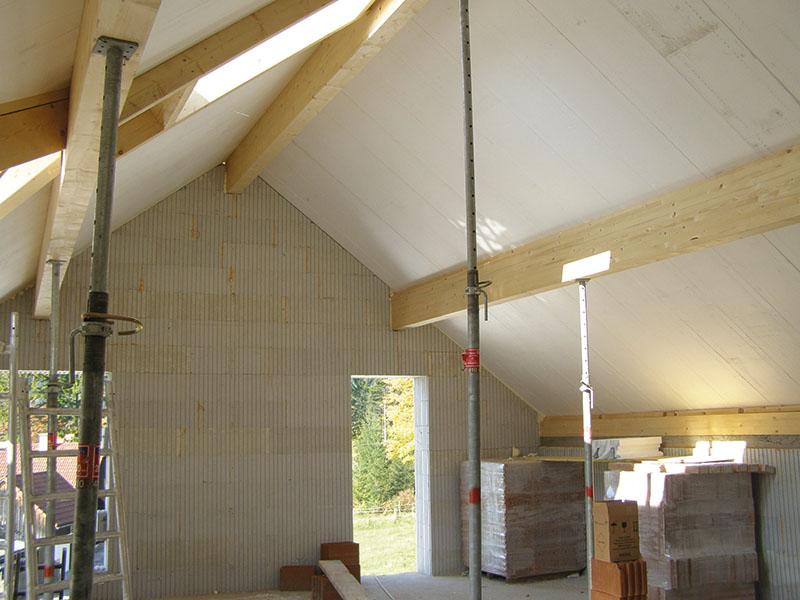 Dachkonstruktion Innenansicht