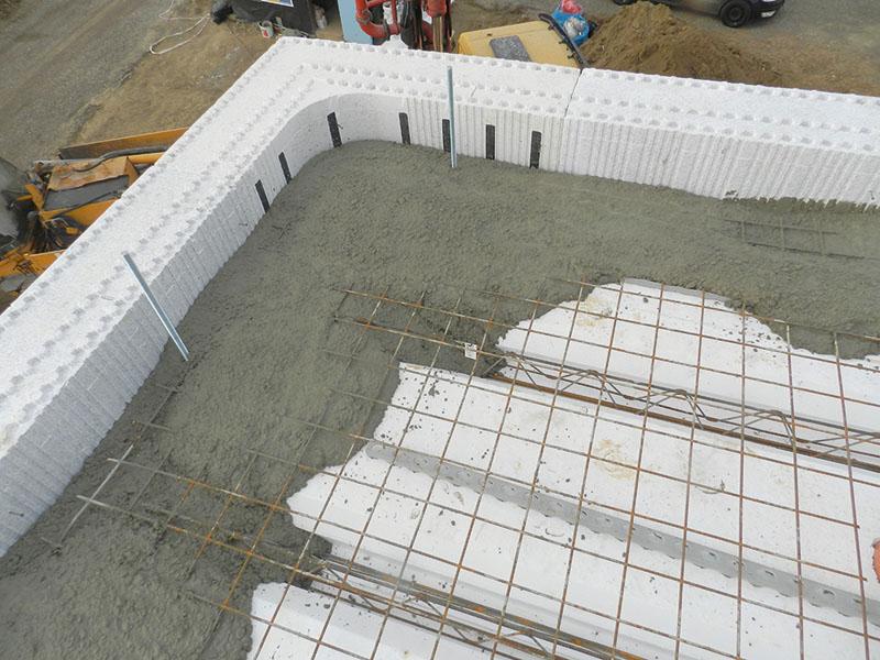 Betonieren der Decke und Wände in Einem