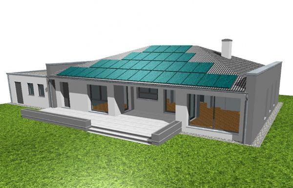 Bungalow als NIEDRIGST Energiehaus